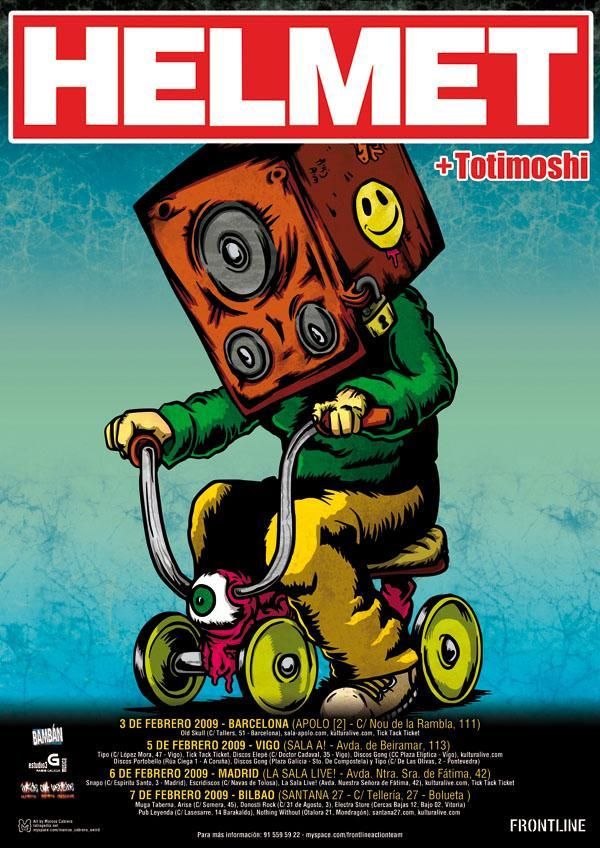 Helmet Gig Poster